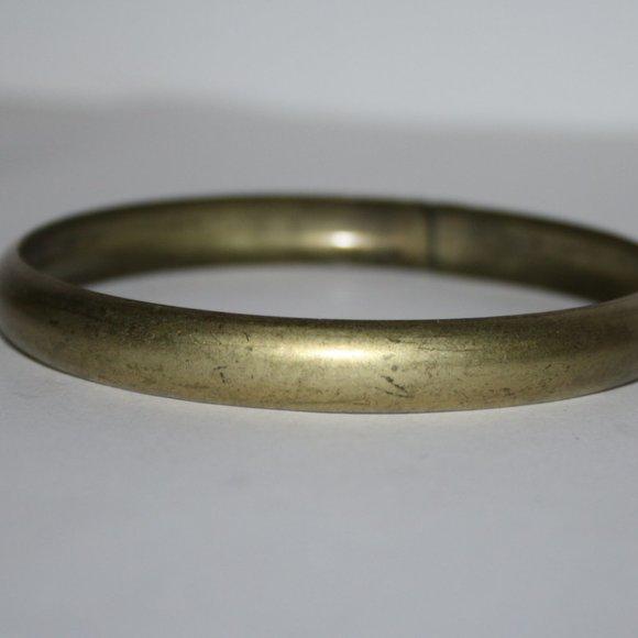 """Vintage brass bangle bracelet 7.5"""""""